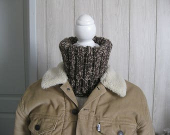 wool snood Turtleneck man and hat