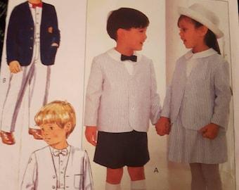 Butterick 4580, Children's Jacket, Shirt, Skirt, Shorts, and Pants Sewing Pattern