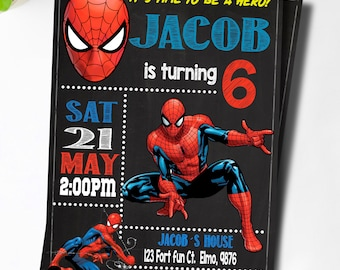 Spiderman invitation etsy spiderman invitationspiderman invitation spiderman birthday invitation spiderman printable spiderman card spiderman invite party filmwisefo