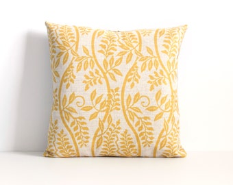 Yellow Pillow Cover, Yellow Throw Pillow, Decorative Pillow Cover, Cushion Cover, Christmas Gift Idea