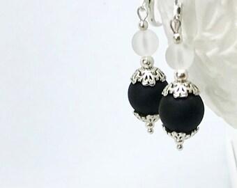 Multicolor Seaglass Earrings, Beach Jewelry, Tropical Wedding Jewelry