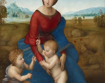 Raphael: Madonna in the Meadow. Fine Art Print/Poster. (001939)