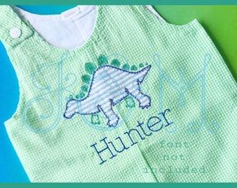 E stitch Stegosaurus Applique Machine Embroidery Design 5x7 dinosaur