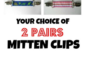Kids MITTEN CLIPS for Children Winter Jackets - Buy 2 & SAVE - Mitt Clip - Kids Glove Clip - Sleeve Clip - Kids Gift Idea - Mitten Keeper