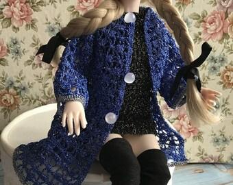 Doll coat Doll hat Doll jacket Fashion doll clothes Blue doll clothes 14 inch doll clothes Doll clothes set Blue doll coat Baby doll clothes