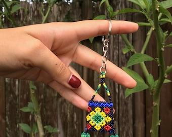 Huichol Purse Keychain