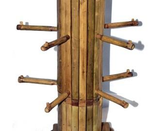 Bamboo Jewelry Bracelet Rack