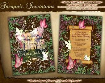 Fairytale Party Invitations, Fairy Castle Party, Fairytale Castle Birthday Party