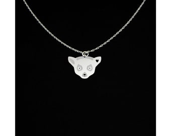 Lemur Necklace - Lemur Jewelry - Lemur Gift