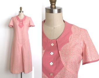 vintage 1920s dress | 20s cotton feedsack dress