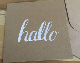 Double card 'Hallo' A6 (10x15cm) or 13x13 cm with envelop
