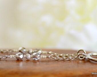 Beaded Eyeglass Chain, Minimalist, Spectacle Chain, Silver Glasses Chain, Glasses Necklace, Silver Eyeglass Necklace, Women Lanyard, Canada