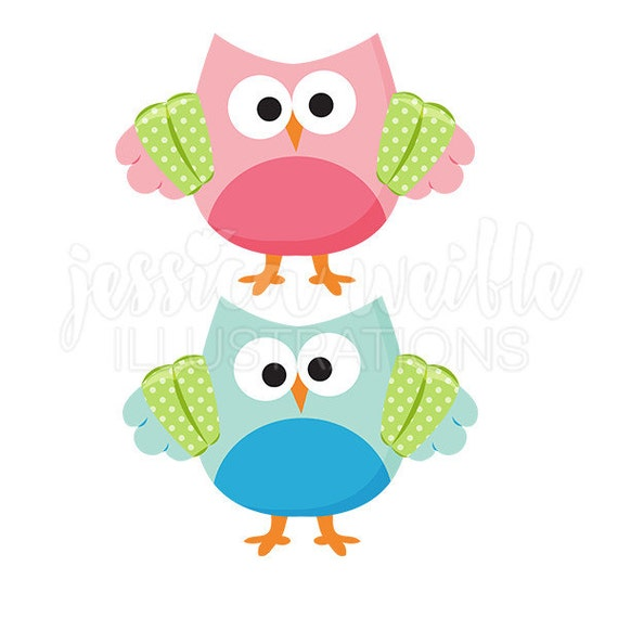 Swimmer Owl Cute Digital Clipart Summer Swim Owl Clip art