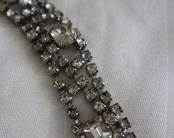 Vintage Rhinestone Bracelet - Large