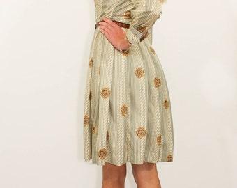 70's Vintage Peony Dress