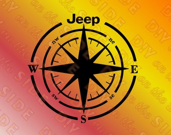 SVG Cut File JEEP Compass Instant Download