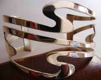 vintage Renoir sterling cuff bracelet | modern art cuff | Renoir modernist sauteur | 1958 1963 | very rare | Renoir Matisse jewelry