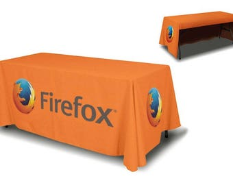 Attractive Custom Table Cover For Trade Show With Logo And Design, 6 Feet Table Covers,