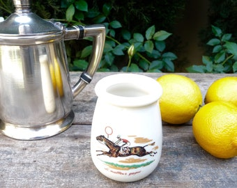 Vintage French Mustard Pot, Amora Mustard Jar, Ironstone Stoneware Crock, Antique Pot, Made in France