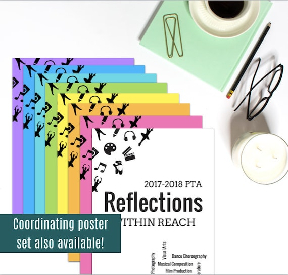 Pta reflections award certificate set awards of excellence pta reflections award certificate set awards of excellence merit participation ready to print art contest certificates yadclub Images