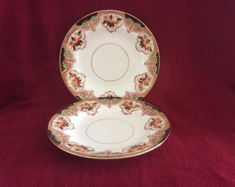 "Salt & Nixon Imari Tea Plates set of 2 circa 1897-1904, 7"" diameter"
