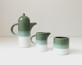 vintage pottery coffee serving set