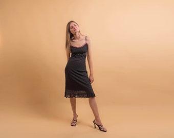 Vintage 90s Betsey Johnson Dress / Vintage 90s Dress / Floral Embroidered Dress / Lingerie Slip Dress Δ size: M