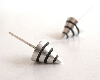 Cone Earrings-sterling silver