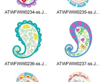 Applique-Floral-Paiselys ( 10 Machine Embroidery Designs from ATW ) XYZ17E