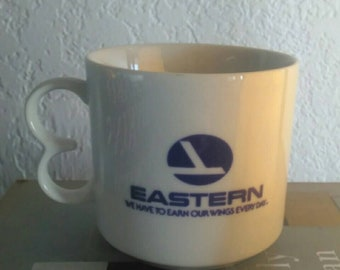 Vintage Eastern Airlines Souvenir Seattle-Salt Lake Coffee Cup