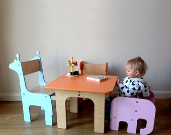 kids desks tables chairs etsy no