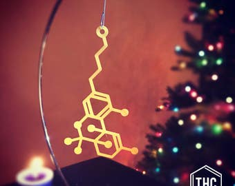 THC Molecule Ornament
