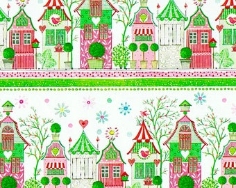 SUSANNA Gift Wrap - Little houses