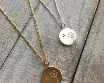 Dandelion Necklace   Military Child Necklace   Military Kid Gift   Army Navy Air Force Marines Coast Guard Brat