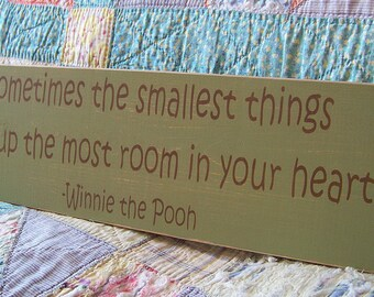 Classic Winnie The Pooh Nursery Decor Wood Sign