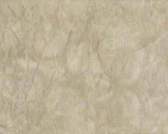 TOASTED ALMOND 36 ct. hand-dyed cross stitch fabric Linen Hand-dyed Fabrics by Stephanie at thecottageneedle.com