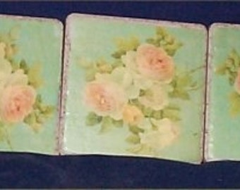 Chic rose coasters