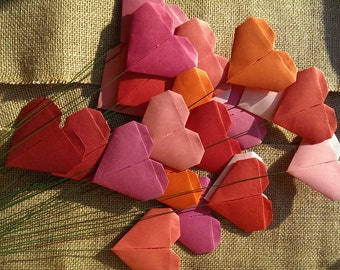 Origami hearts - bouquet