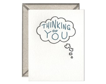Thinking of You Bubble letterpress card