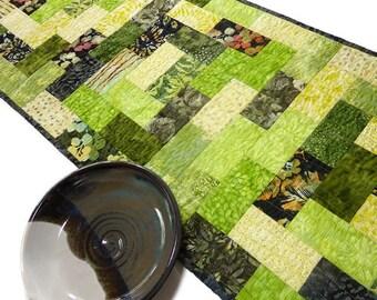 Quilted Batik Table Runner