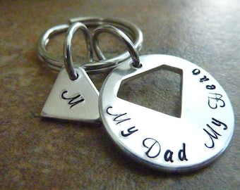 Father's Day Personalized Dad Keychain SuperDad Key ring