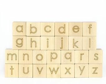 Maple Alphabet Wooden Blocks