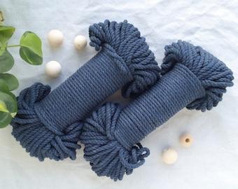 Dark Blue* macrame cord, macrame rope, 60 meters, 200 feet, 5mm, craft supplies, macrame supplies, plant hanger, DIY