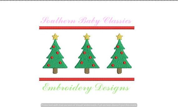 Christmas Tree Trees Row Three Trio Pine Design File For
