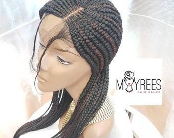 Cornrows/Ghana braids braided wig. Colour 1B/33