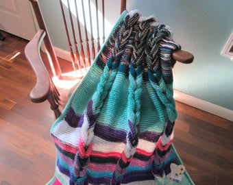 Bright Spring knit throw