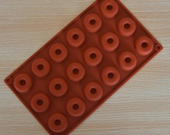 18-Donut soap mold jewelry mould Flexible Silicone Mold polymer clay mold Cake Mold Chocolate Mould Resin Mold Biscuit Mold mould fimo mold
