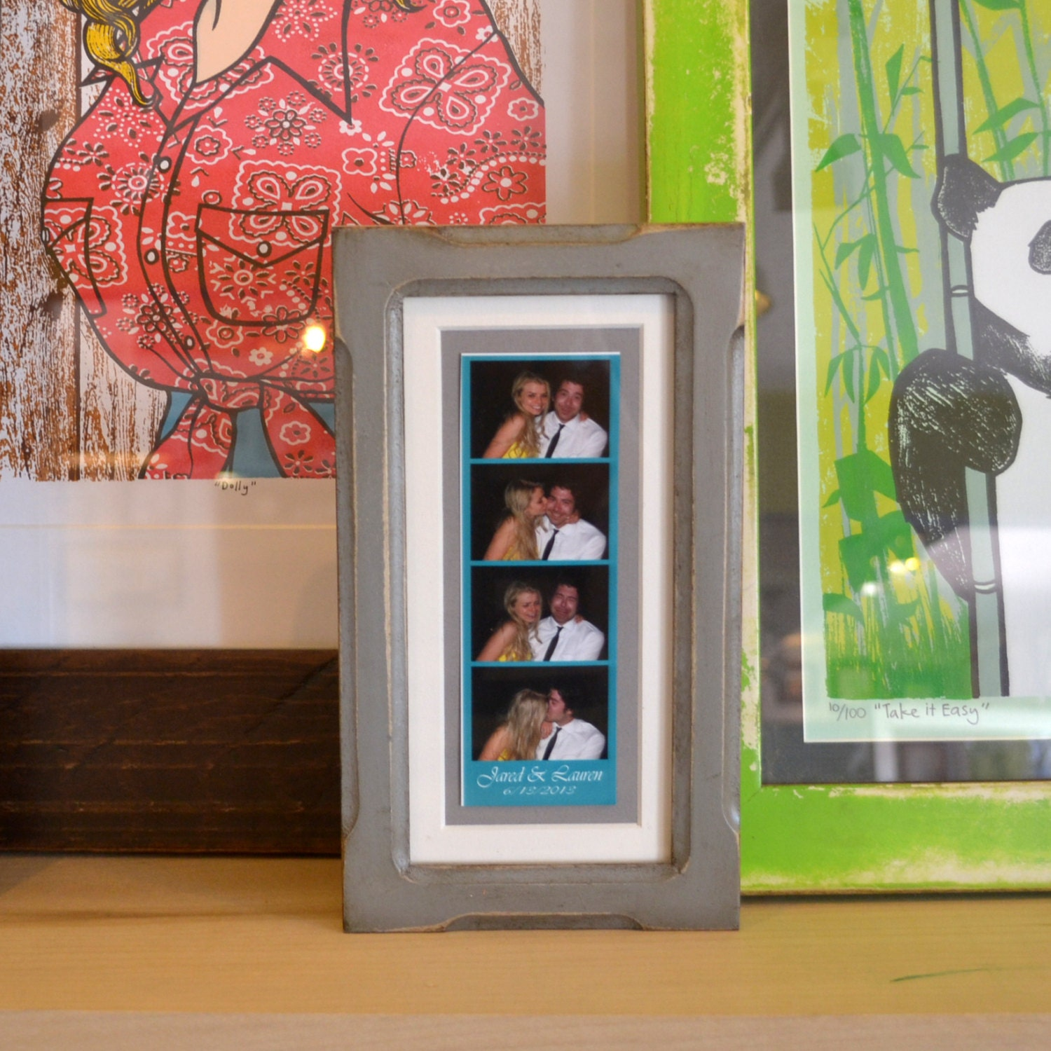 4x8 Picture Frame for 2x6 Photo Booth Strip in Shallow Bones and ...