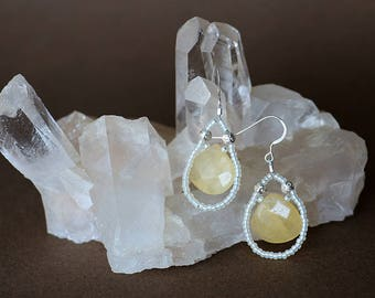 Sunny Calcite Sterling Silver Earrings