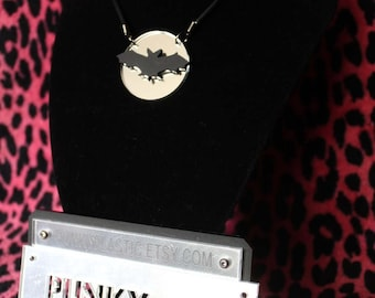 Acrylic bat silhouette necklace
